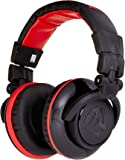 "Numark Red Wave Carbon | 50mm Driver Professional Mixing Headphones with 1/8"" Adapter, Cable, & Storage Case"