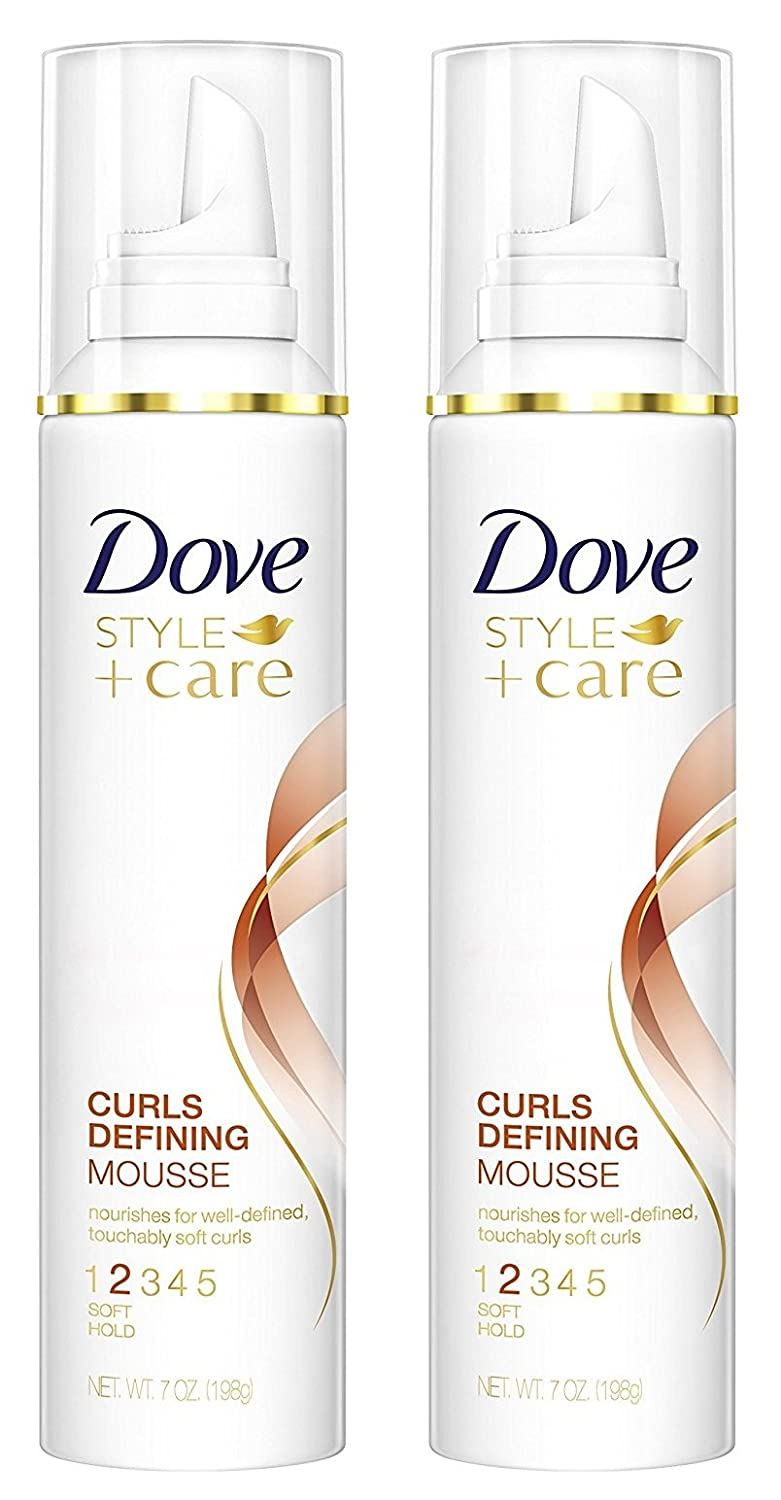 Dove STYLE+care Curls Defining Mousse, 2 Soft Hold, 7 oz (Pack of 2)