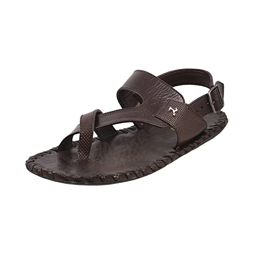 78d91659932 Mochi Men Black Leather Sandals (18-541)  Buy Online at Low Prices in India  - Amazon.in