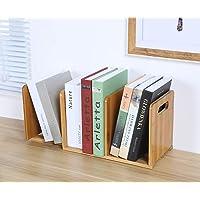 Ganeed Expandable Desktop Bookshelf,Bamboo Desktop Bookcase,Mini Bookshelf Organizer Tabletop Bookshelf for Office Home…