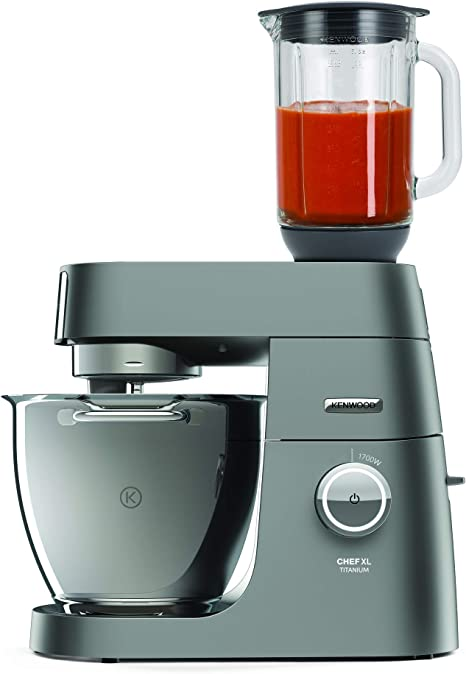 Kenwood Titanium Chef XL System Pro Robot de cocina, 1700 W, 5 kg, Plata: Amazon.es: Hogar