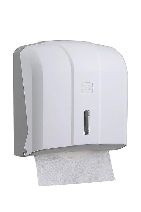 Dispensador de toallitas plegadas de papel Katli-hw , blanco, de plástico para toallitas