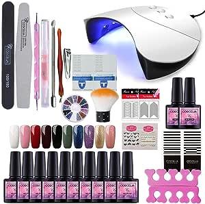 Saint-Acior Gellak uv-kleuren set 36 W LED + UV-nagellamp starterset voor gelnagels Y6005.