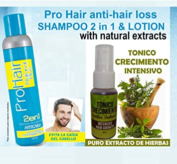 Cre-C shampoo (3 bottles) and 3 Ampollas Crecimiento