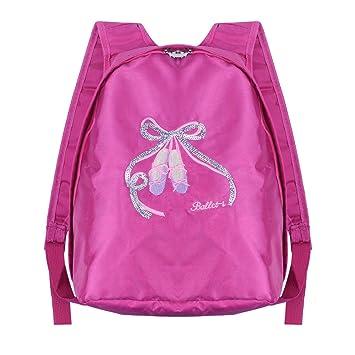 6dc9976789 TiaoBug Enfant Fille Sac de Danse Classique Ballet Sac à Dos Multi-Fonction  Sac de Sport Gymnastique ...