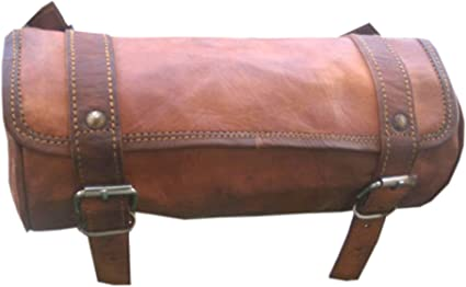 Leder Werkzeugtasche Fahrrad Satteltasche Handarbeit Tasche Vintage Brown