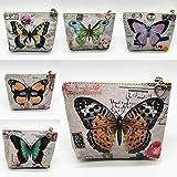 Kentew 1PC Women Retro Zipper Small Wallet Butterfly Print Purse Card Holder Clutch Coin Purses & Pouches