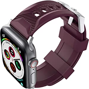 AhaStyle Sport Band for Watch 40mm 38mm, Soft Silicone Strap Wristband Replacement Compatible with Watch Series SE 6 5 4 3 2 1 for Women Men(Burgundy, 38mm/40mm)