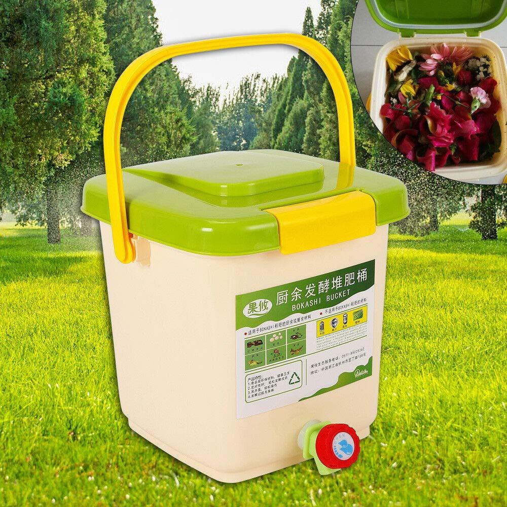 OUKANING Bokashi - Recipiente para Compost (9 L, con ...