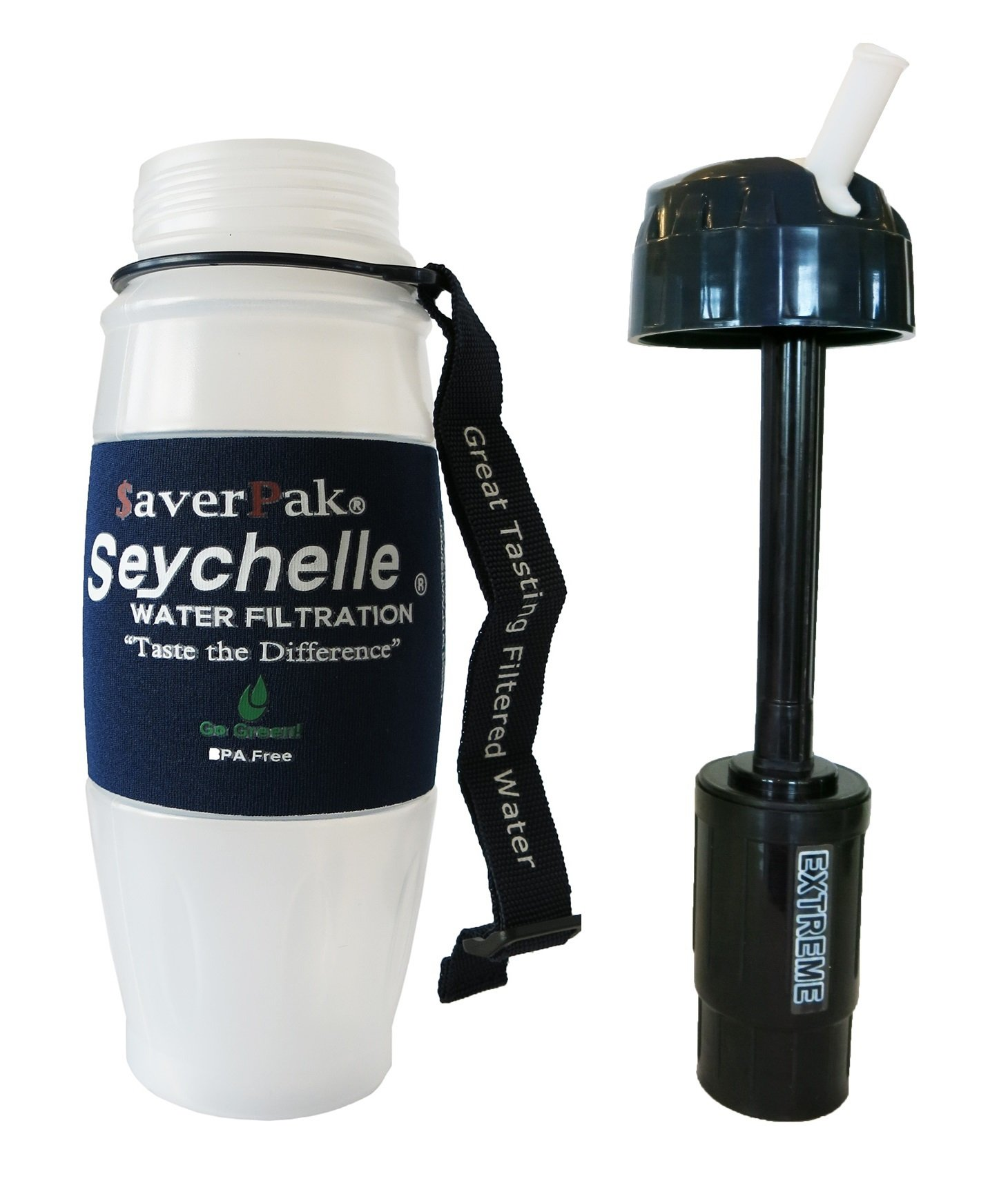 $averPak 2 Pack - Includes 2 Seychelle 28oz Flip Top Water Filtration Bottles with the Seychell EXTREME RAD/ADV Filters and 2 Additional Spare EXTREME RAD/ADV Filters by $averPak (Image #8)