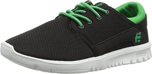 Etnies-Kids Scout Black//Black Enfants Chaussures Noir Loisirs légèrement