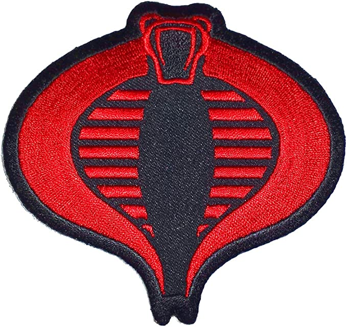 amazon com gi joe cobra logo iron on patch clothing gi joe cobra logo iron on patch