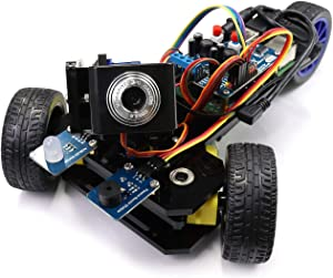 Freenove Three-Wheeled Smart Car Kit for Raspberry Pi 4 B 3 B+ B A+, Robot Project, Tutorial and Code, Android APP, Video Camera Ultrasonic Servo Wi-Fi Wireless RC