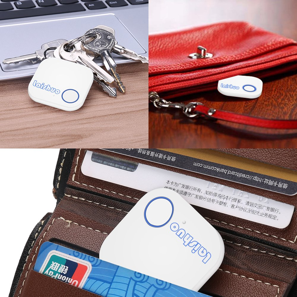 Bluetooth Tracker, Bluetooth keys Tracker, Bari Key Finder Tracking Wallet Key Bag Pet Dog Tracer Locator Alarm Patch GPS Locator for iOS/iPhone/iPod/iPad/Android