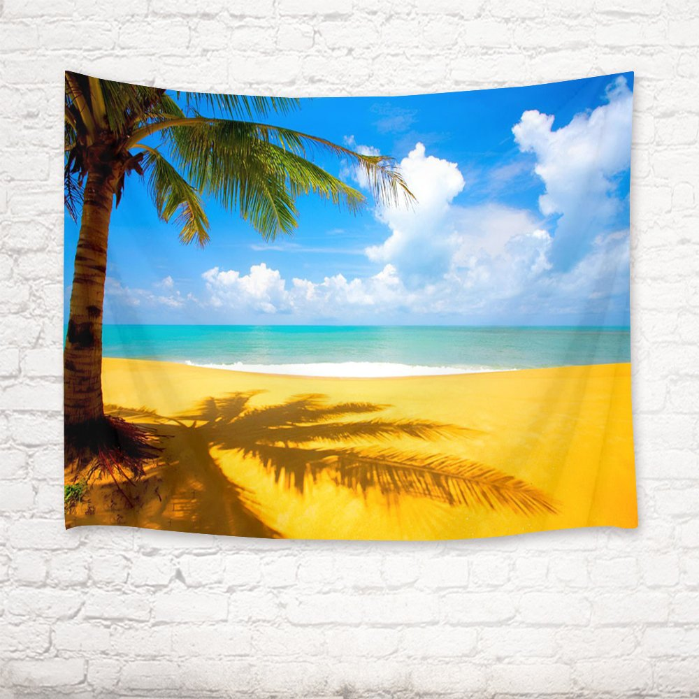 Amazon.com: LB Tropical Tapestry Wall Hanging,Palm Trees on The ...