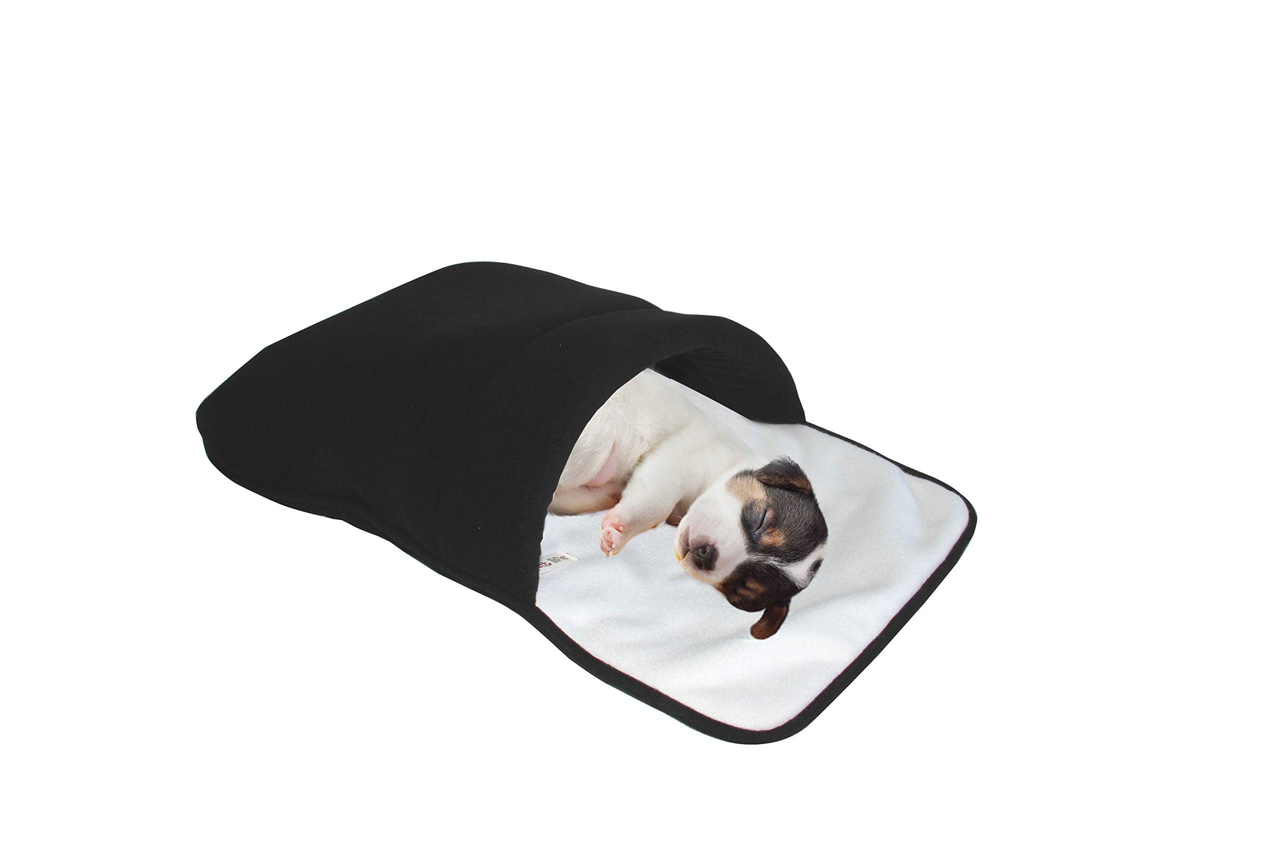 purrrfect life Cat Sleeping Bag, White/Black