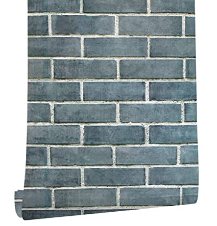 Haokhome 61009 Faux Realistic Brick Wallpaper Peel Stick Wall Decor