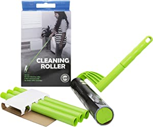 Leo Cleaning Roller with extendable Handle (with 25 Sheets) Pet's Hair Remover & Household Cleaning Great for Dog and Cat Hair Cleaning and Removal