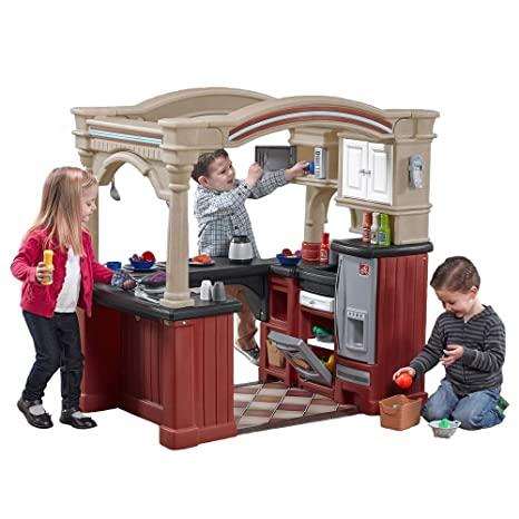 Amazon Com Step2 Grand Walk In Kitchen Playset Toys Games