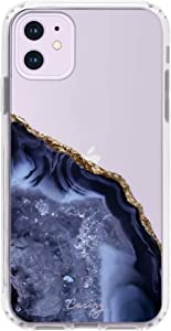 Casery Case Designed for The Apple iPhone SE, iPhone 8/7, Dark Blue Agate (Azure Marble) - Military Grade Protection - Drop Tested - Protective Slim Clear Case