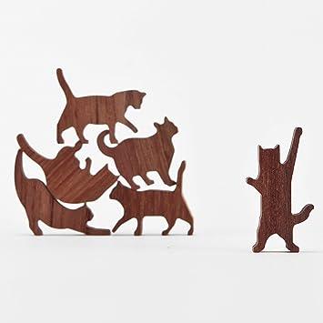 Comma - Juego de pelotas de madera para gatos (bolsa roscada de 6 kittens): Amazon.es: Juguetes y juegos