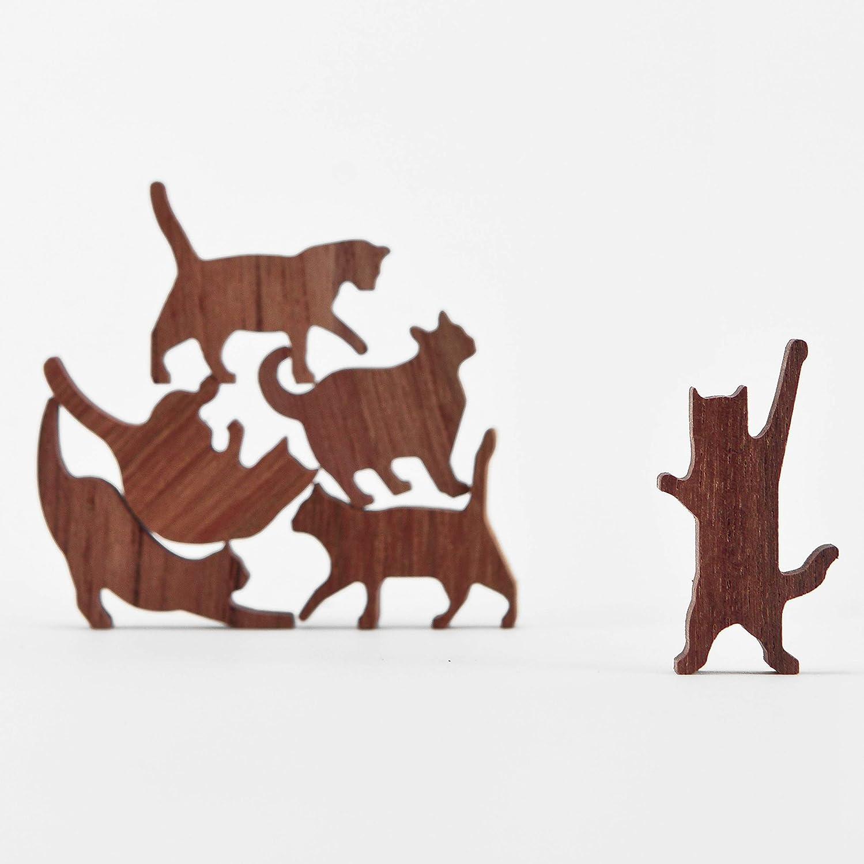 【全品送料無料】 カンマWooden Cat Pileセット# 1 (ピンクスレッド、6 Cat Pileセット# Kittens ) ) B013XTYKRS, 超高品質で人気の:22c742d0 --- dou13magadan.ru
