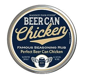 Original Beer Can Chicken Seasoning & Premium Dry Rub - Gluten Free, All Natural, Low Salt, No MSG (3 oz Gourmet Tin)