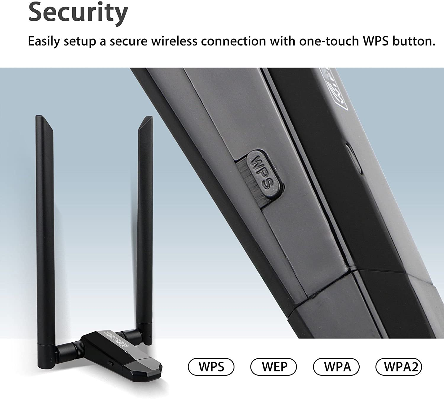 Bestyu Long Range AC1200 Dual Band 5GHz 1200Mbps Wireless USB 3.0 WiFi Network Adapter Lan Dongle with 2 Antenna for Windows 2000//XP//Vista//7//8//8.1//10 Mac OS Linux