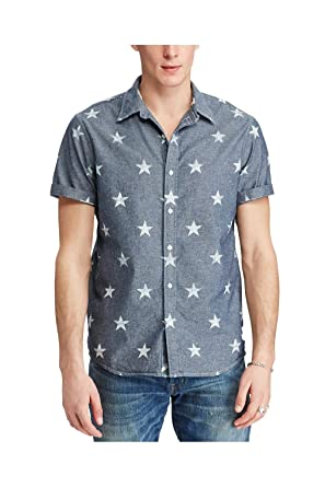 b7d9850cf RALPH LAUREN Denim & Supply Men's Star-Print Chambray Shirt at ...