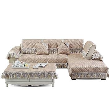 Fashion·LIFE Funda de sofá Lujoso con Encaje Toalla de ...
