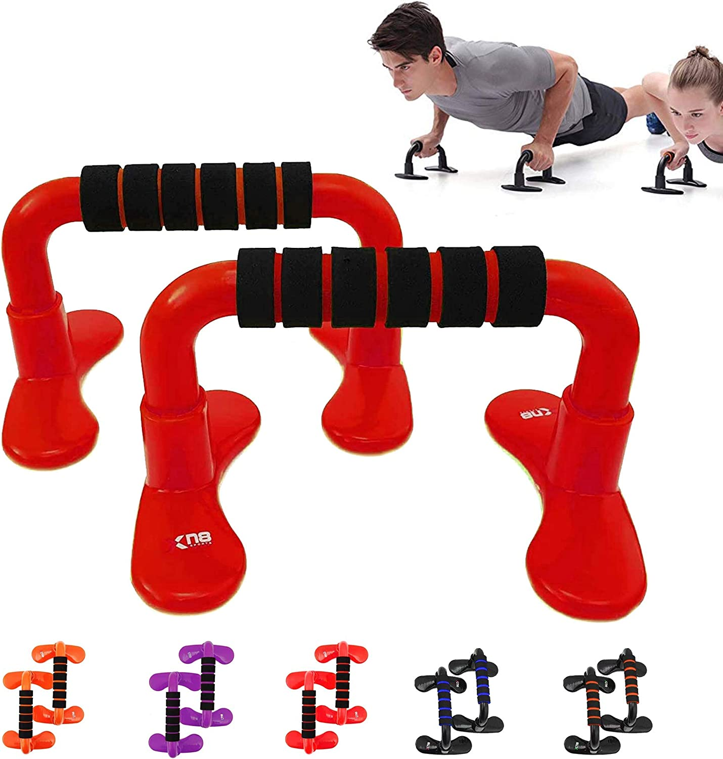 -with Non-Slip Foam Grip Handles-for Chest Press-Home-Gym-Fitness-Exercise-Strength /& Training Pair Xn8 Push Up Chest Bar Stand