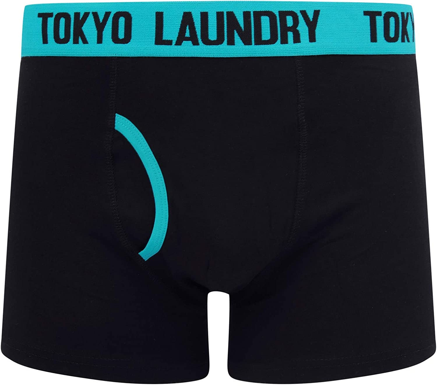 Tokyo Laundry Mens Striped Twin Pack Boxer Shorts Brompton 2 - Blue-green