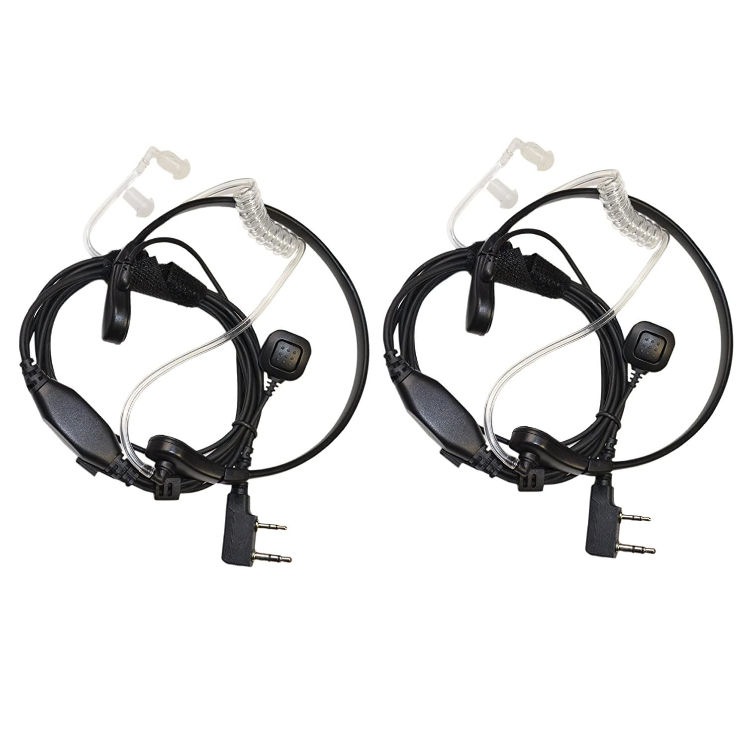 HQRP Hands Free Headset PTT Throat Mic for Baofeng BF-888 BF-888S BF-999 BF-999S