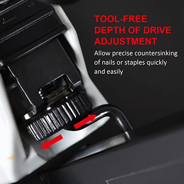 you can use the air nailer to drive brad nails when handling tasks such as paneling, household trim, cabinets, drawers, and bookcases.
