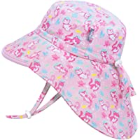 Jan & Jul Kids' Sun-Hats for Girls with UV Protection, Adjustable for Growth (XL: 6-12 Years, Diving Cats)
