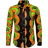 LinkShow Mens Stripes Printed Classics Juniors Short-Sleeve Tees Shirt