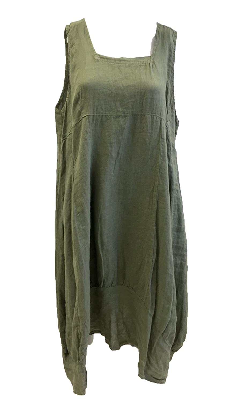 0c291d7ca01 New Plus Size LAGENLOOK Quirky BALLOON Shaped BOHO Tulip LINEN Pocket Tunic  Dress XXL 50