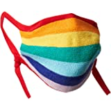 Cable Stitch Children's Adjustable and Reusable Face Mask with Filter Pocket Rainbow