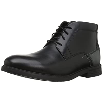 Rockport Men's Collyns Low Boot Chukka Boot, black, 10 M US | Chukka