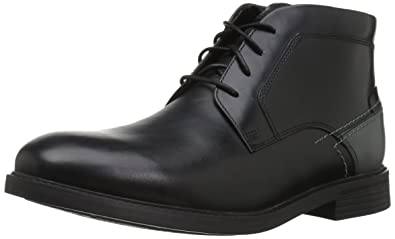 Rockport Men's Collyns Low Boot Chukka Boot, Black, ...