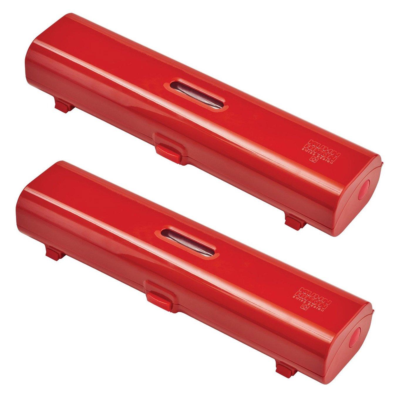 Kuhn Rikon Foil & Plastic Wrap Dispenser Set Of 2, Red