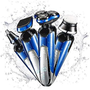BXWA 4 en 1 Maquinilla de Afeitar eléctrica para Hombres ...