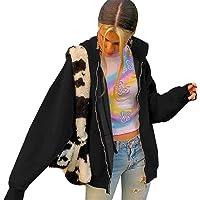 Mujeres Pullover Sudadera Seta Bordado de Gran tamaño Y2K Moda Estética Vintage Sudaderas Manga Larga Túnica Casual…