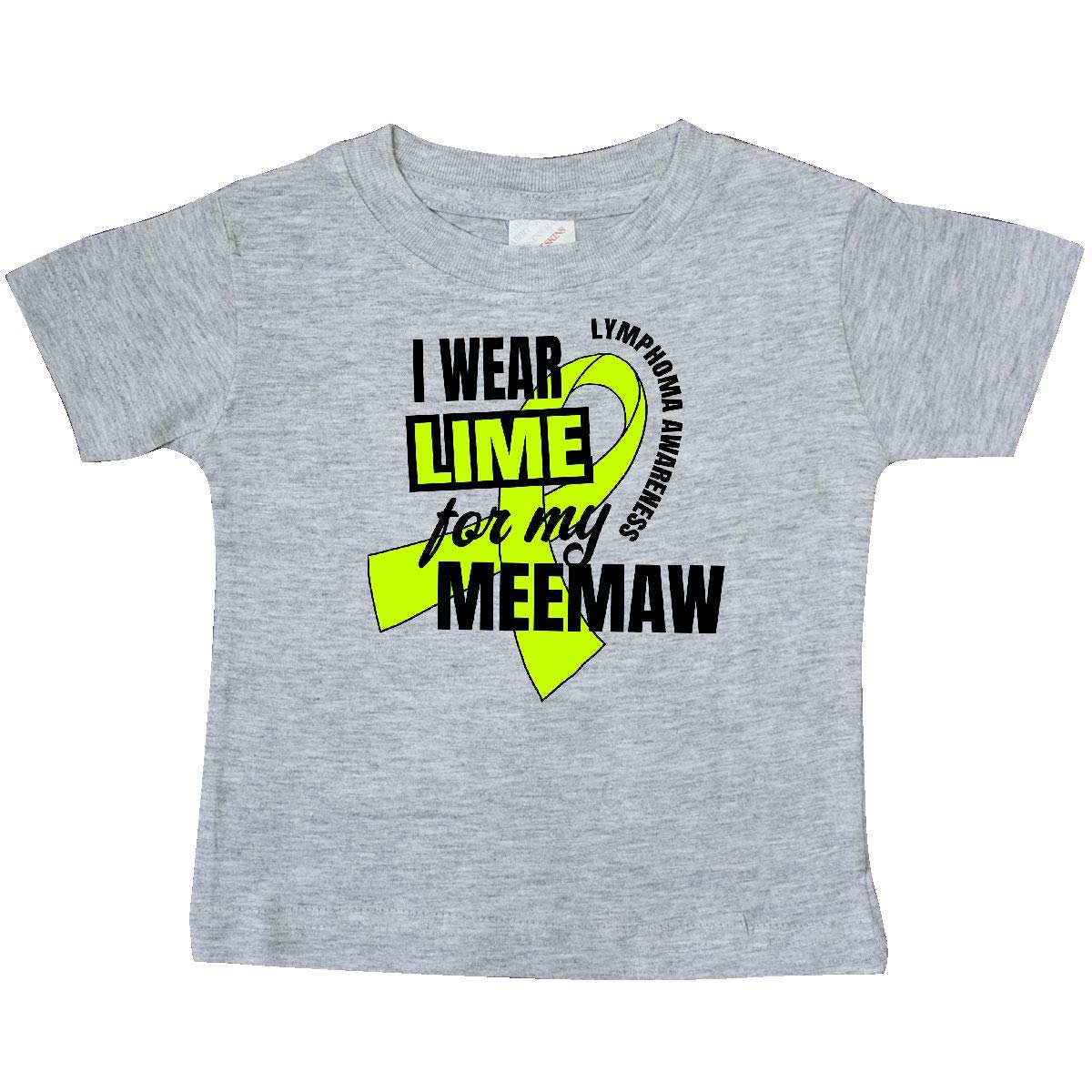 inktastic I Wear Lime for My Meemaw Lymphoma Awareness Baby T-Shirt