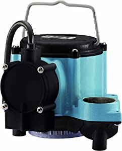 Little Giant GIDDS-521252 12393 1/3 HP Automatic Sump Pump, 2760 GPH, Blue