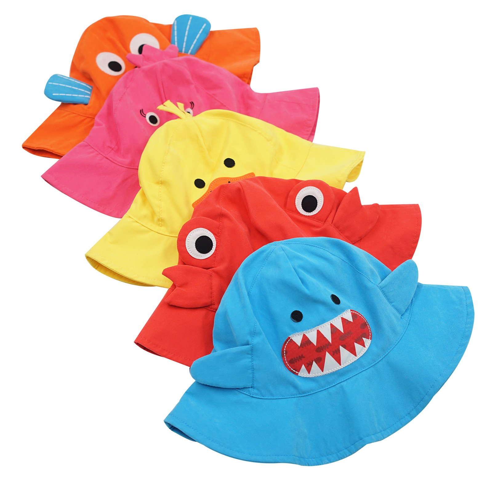 Connectyle Baby Infant Toddler Kids' UPF 50+ Sun Protection Hat Cute Cartoon Bucket Sun Hats by Connectyle (Image #5)
