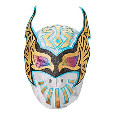 Amazoncom Wwe Sin Cara Replica Mask Goldblue Clothing