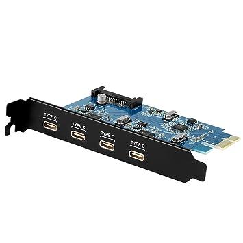 Aukey - Tarjeta PCI Express USB C 3.0 PCI Tarjeta gráfica X ...