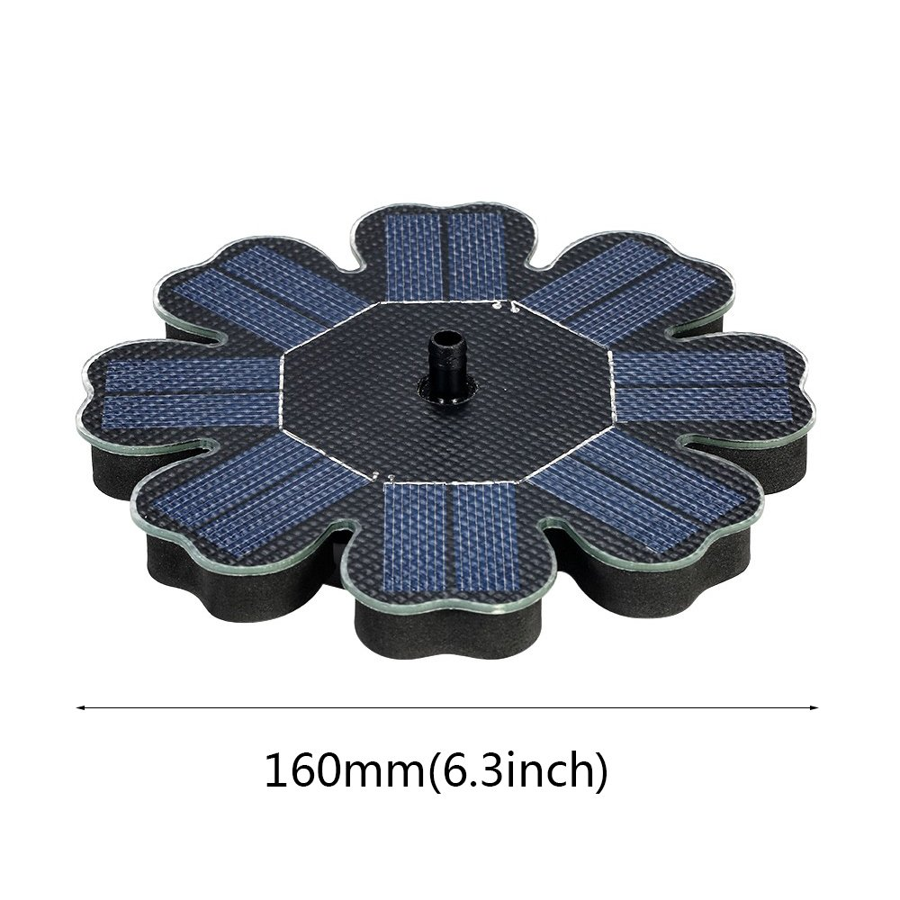 Solar Pump,8V 1.6W Floating Water Fountain for Bird Bath Pond Garden Decoration Solar Panel Water Pump Kit (Black) by Dugoo Solar Pump (Image #6)