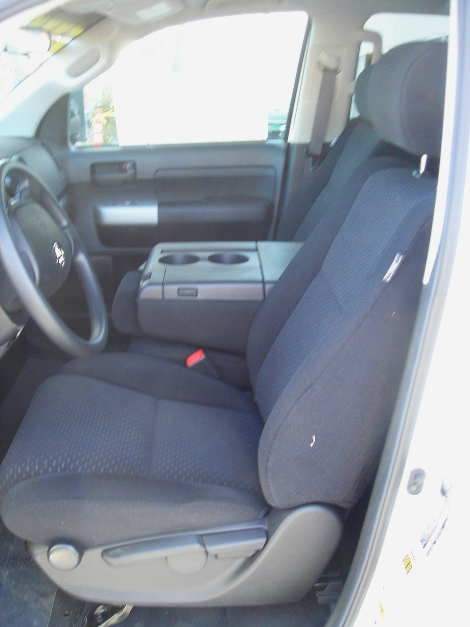 Durafit Seat Covers, Made to fit 2007-2013 Tundra 40/20/40 Seat Covers in Black Automotive Twill